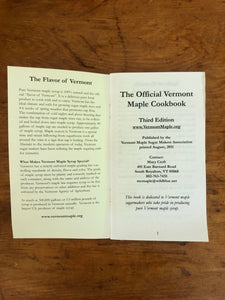 The Official Vermont Maple Cookbook