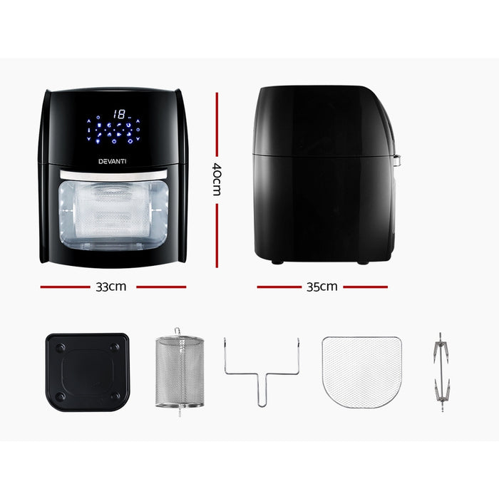 12L Air Fryer LCD Digital Low Oil Deep Frying Oven Healthy Kitchen Cooker