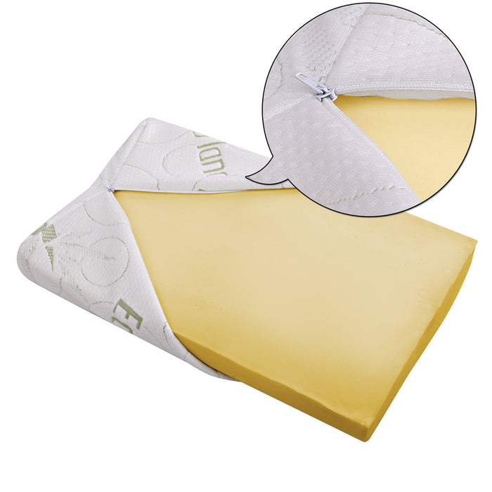 Bedding Set of 2 Bamboo Pillow with Memory Foam