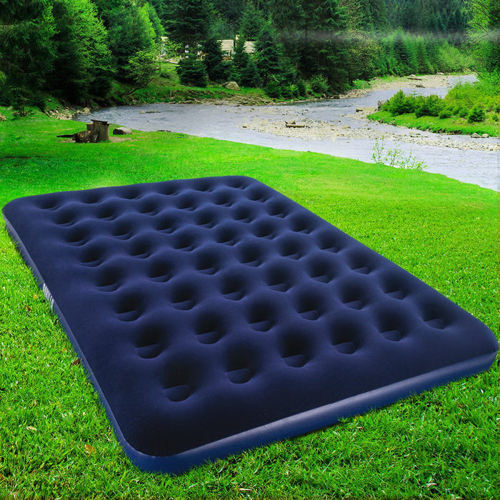 Queen Size Inflatable Air Matress - Navy