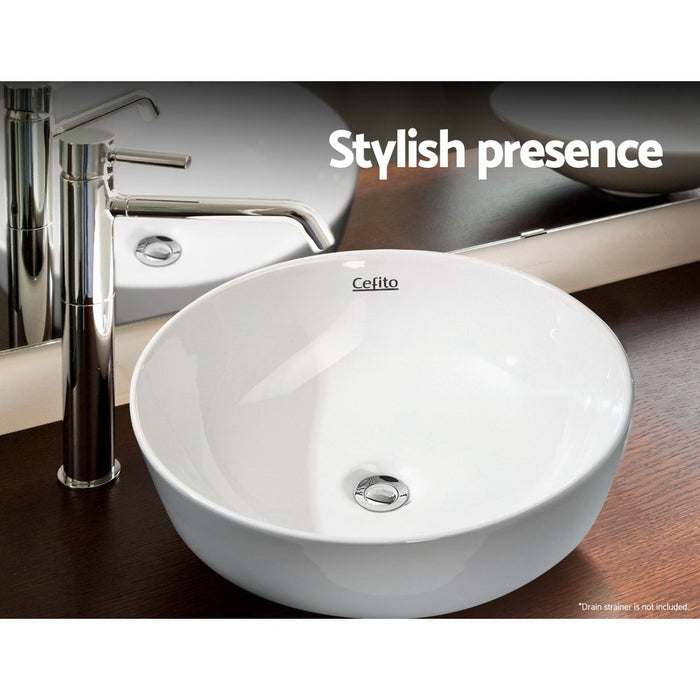 Ceramic Bathroom Basin Sink Vanity Above Counter Basins Hand Wash White