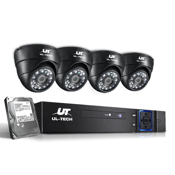 1080P 4 Channel HDMI CCTV Security Camera with 1TB Hard Drive