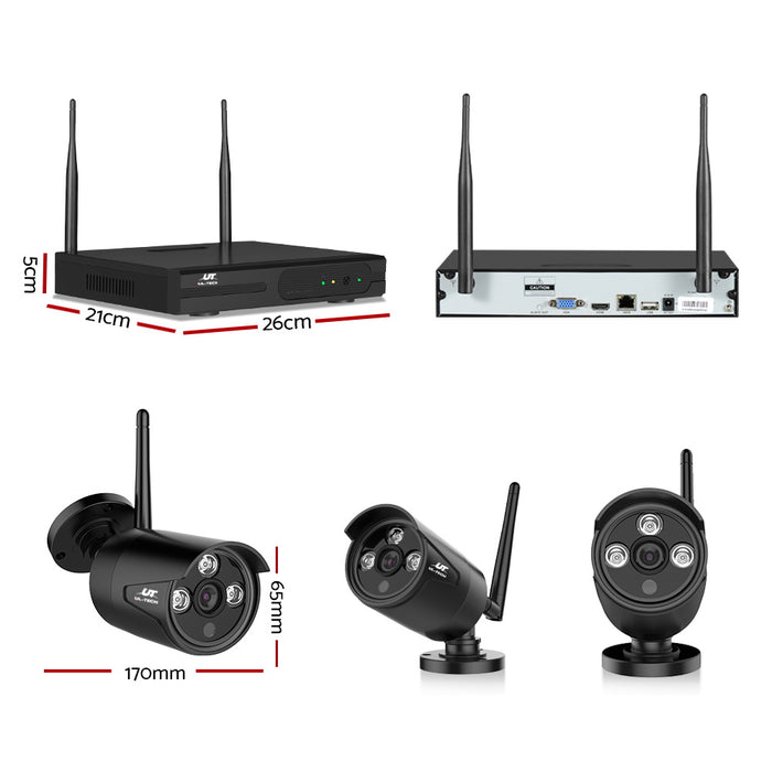 CCTV Wireless Security System 2TB 8CH NVR 1080P 6 Camera Sets