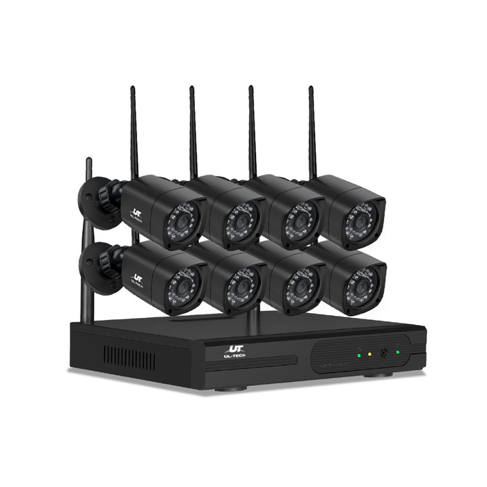 1080P 8CH NVR Wireless 8 Security Cameras Set