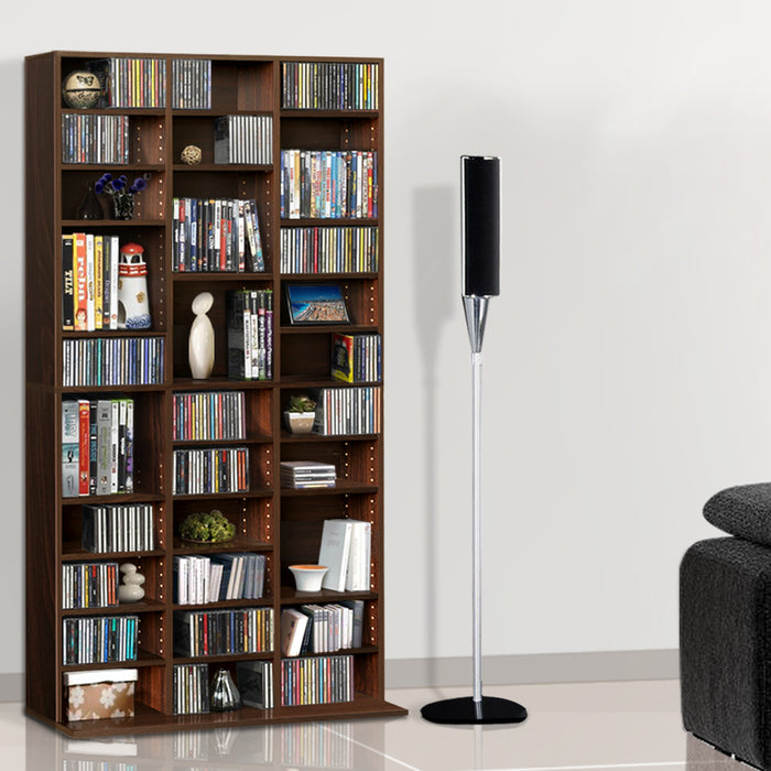 Adjustable Book Storage Shelf Rack Unit - Expresso