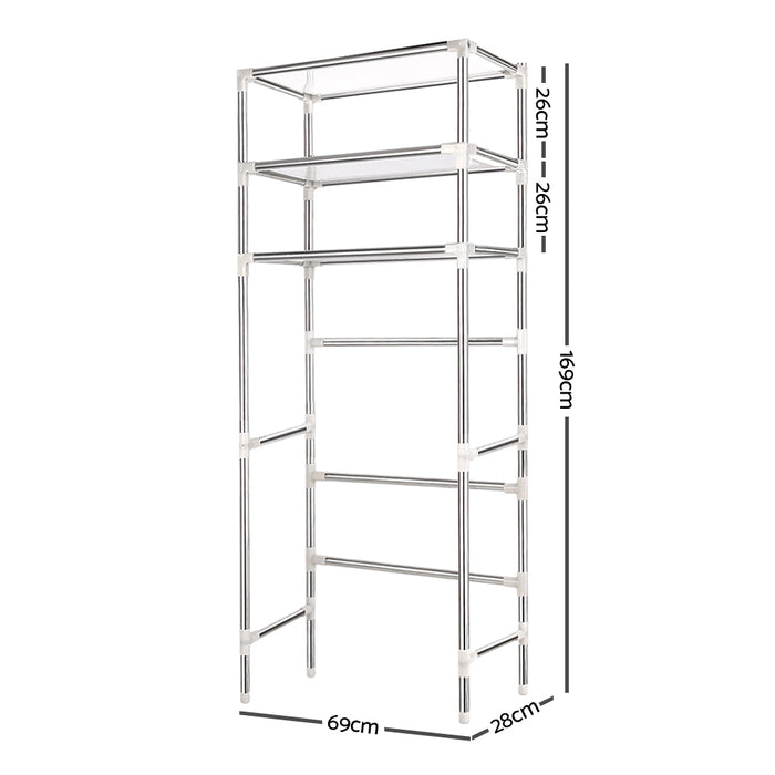 3 Tier Laundry Storage Rack - Silver