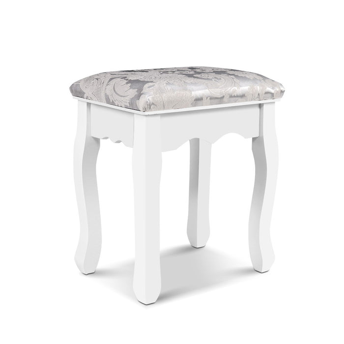 Dressing Stool Bedroom White Make Up Chair Living Room Fabric Furniture