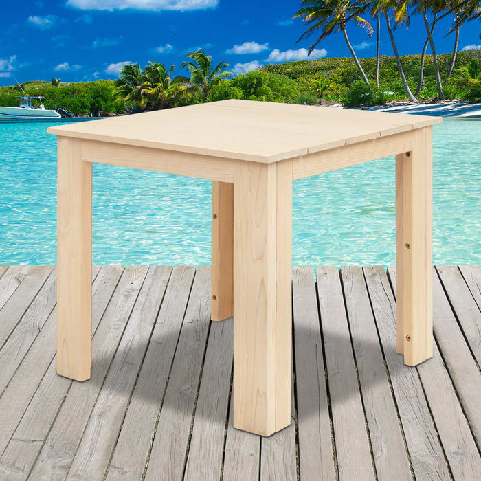Wooden Outdoor Side Beach Table