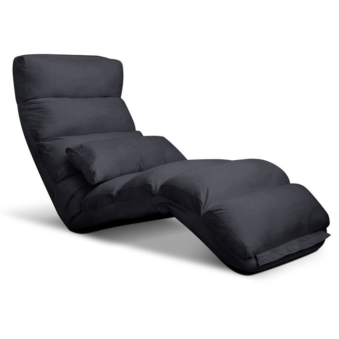 Adjustable Lounge Sofa Chair - Charcoal