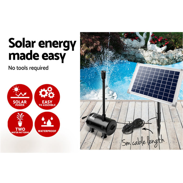 650L/H Submersible Fountain Pump with Solar Panel