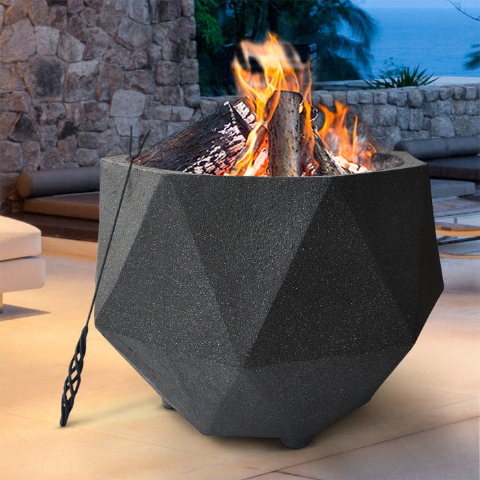 Outdoor Portable Fire Pit Bowl Wood Burning Patio Oven Heater Fireplace