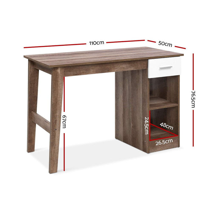 Scandinavian Office Computer Desk Student Study Table Workstation Shelf