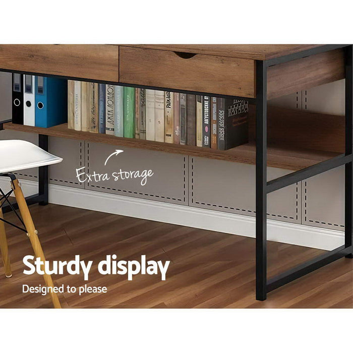 Office Computer Desk Study Table Workstation Student Bookshelf Storage Drawers