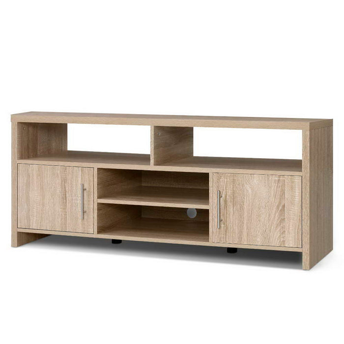 TV Cabinet Entertainment Unit Stand Storage Shelf Sideboard 140cm Oak