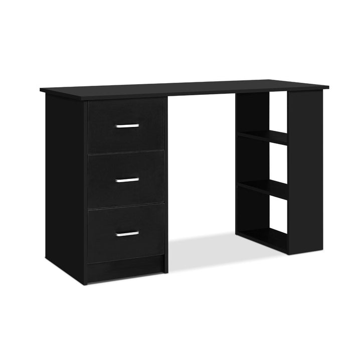Office Computer Desk Student Study Table Workstation 3 Drawers 120cm Black