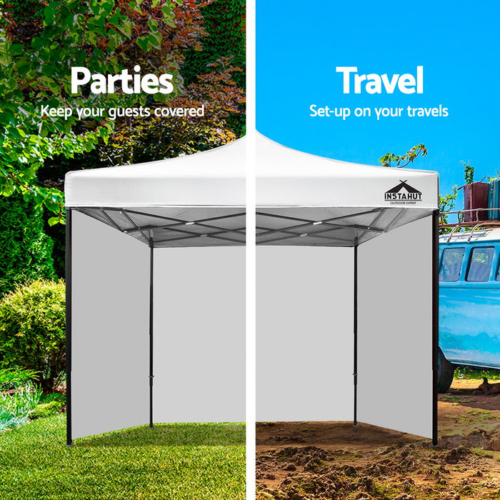 Gazebo Pop Up Marquee 3x3m Folding Wedding Tent Gazebos Shade White