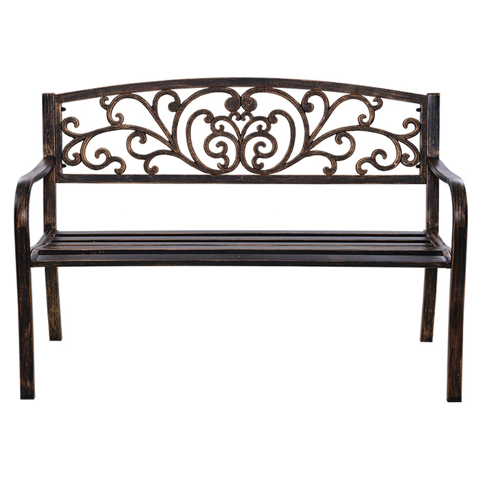 Cast Iron Garden Bench - Bronze