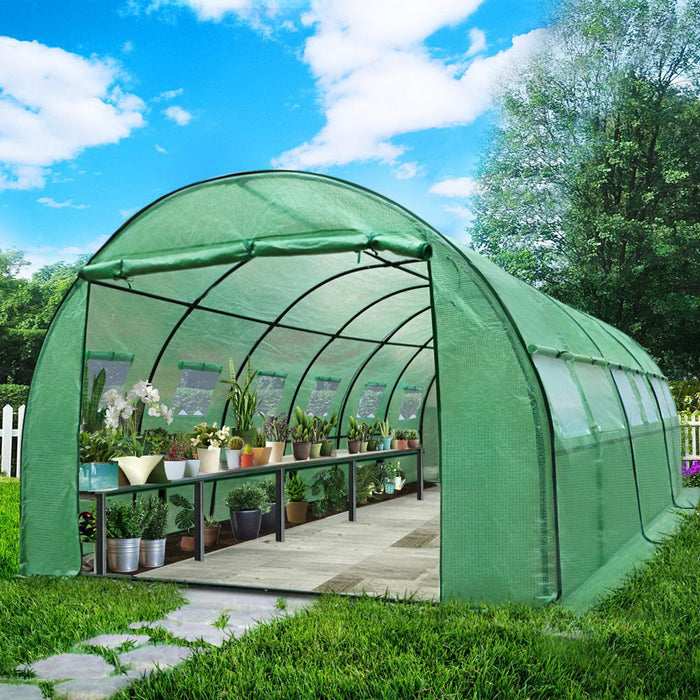 Greenhouse Garden Shed Green House Replacement *Cover Only* 6X3X2M