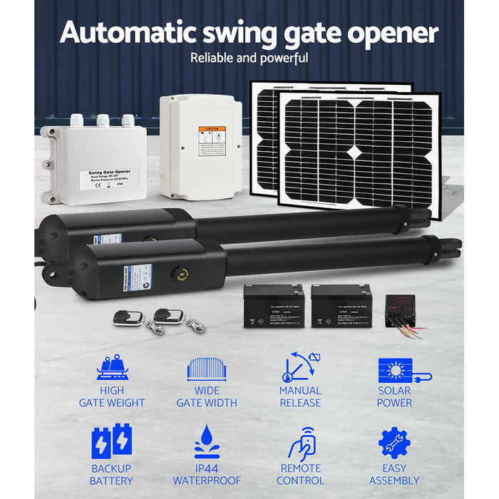 Swing Gate Opener Auto Double Full Remote Control 1200KG