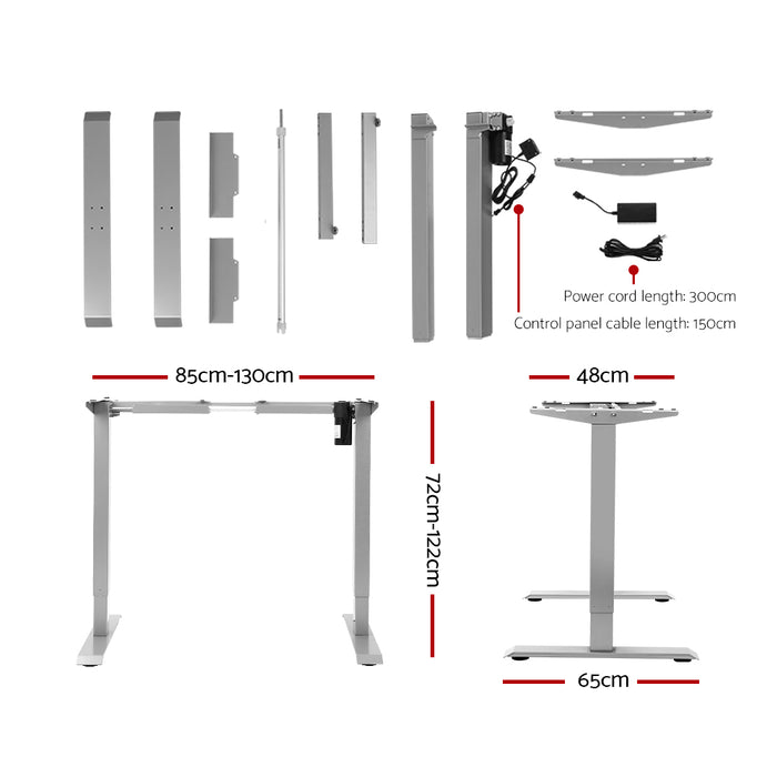 Standing Desk Height Adjustable Sit Stand Laptop Computer Table Motorised Electric Frame Riser 140cm