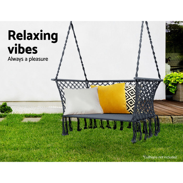 Camping Hammock Chair Patio 2 Person Swing Hammocks Double Portable Rope