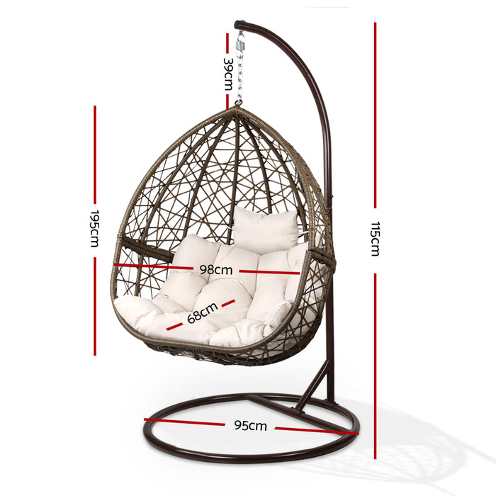 Outdoor Hanging Swing Chair - Brown