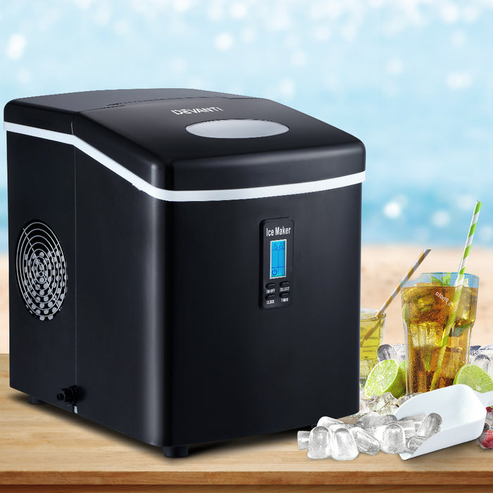 3.2L Portable Ice Cube Maker Machine Benchtop Counter Black