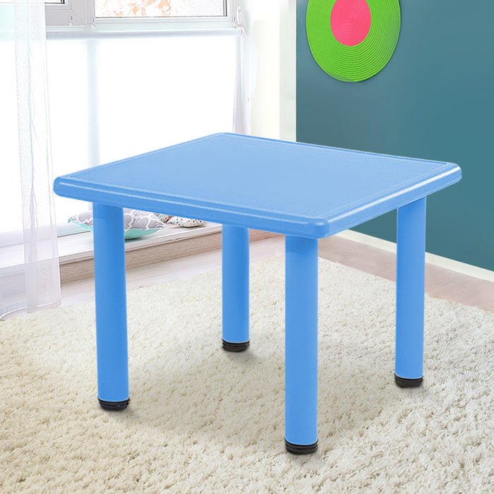 Kids Table Study Desk Children Furniture Plastic Blue