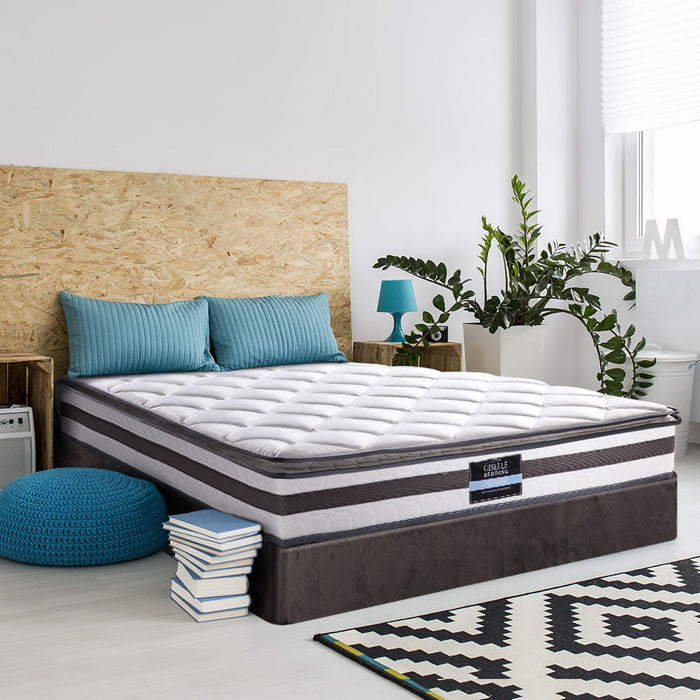 Bedding King Size Pillow Top Spring Foam Mattress