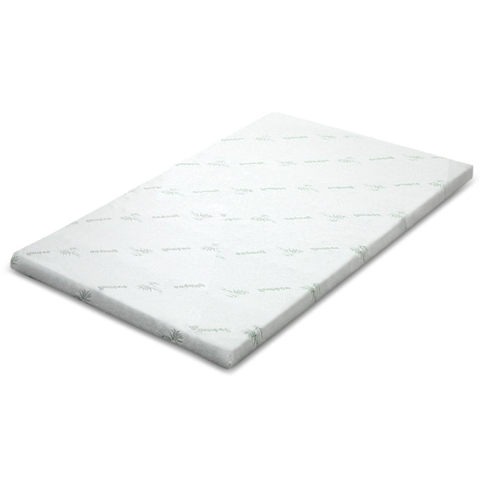 Bedding COOL GEL Memory Foam Mattress Topper BAMBOO Cover Single 5CM Mat