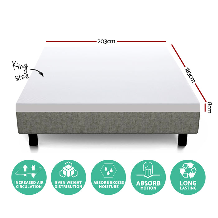 Bedding King Size Dual Layer Cool Gel Memory Foam