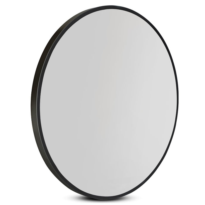 90CM Wall Mirror Bathroom Makeup Mirror Round Frameless Polished