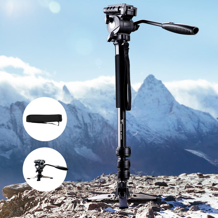 Extendable Portable Camera Monopod Tripod - Black