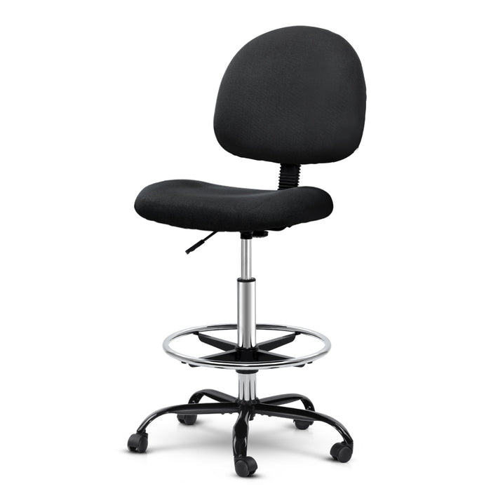 Office Chair Veer Drafting Stool Fabric Chairs Black