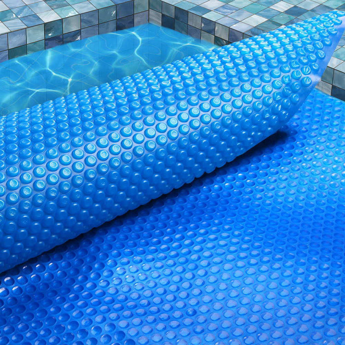 10M X 4M Solar Swimming Pool Cover 400 Micron Outdoor Bubble Blanket