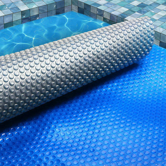 10.5M X 4.2M Solar Swimming Pool Cover - Blue