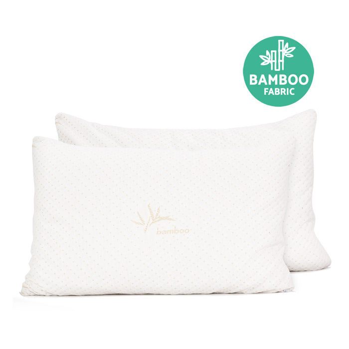 Bedding Set of 2 Single Bamboo Memory Foam Pillow