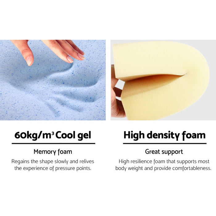 Bedding Foam Wedge Back Support Pillow - Blue