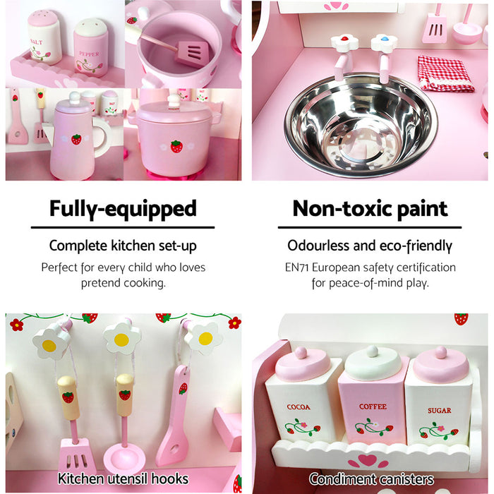 Kids Kitchen Play Set - Pink