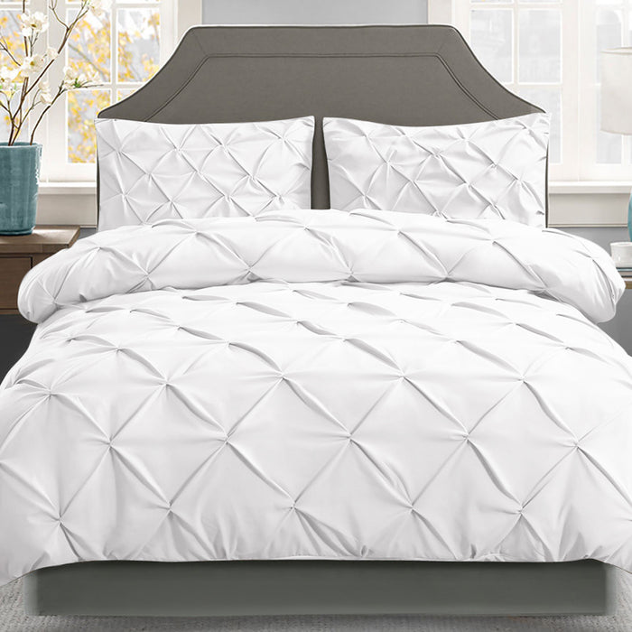 Bedding Queen Size Quilt Cover Set - White