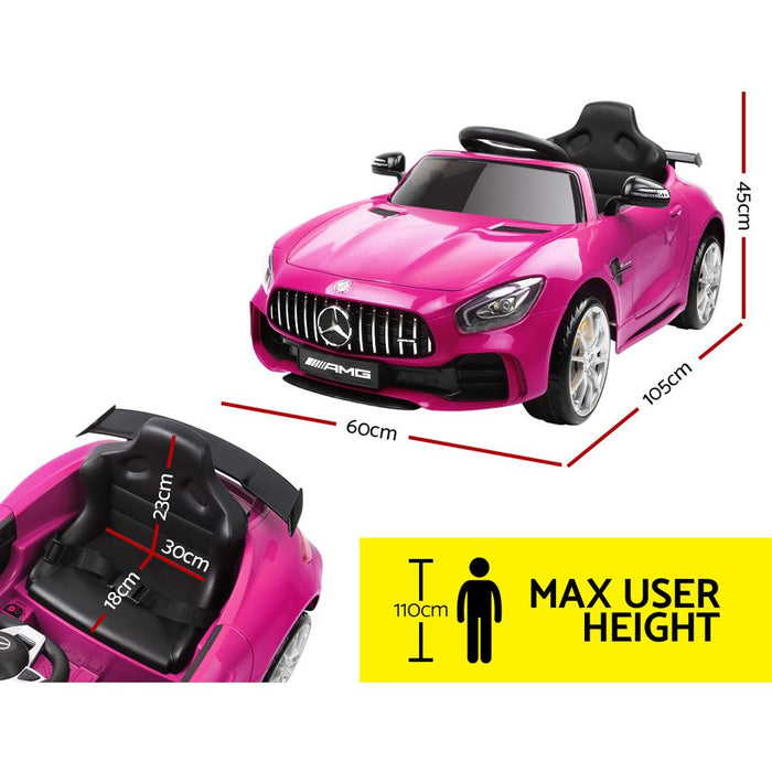 Kids Ride On Car MercedesBenz AMG GT R Electric Pink