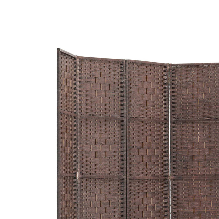 6 Panel Room Divider - Brown