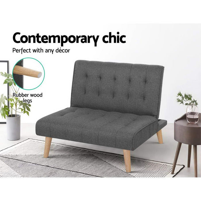 Sofa Lounge Recliner Chair Futon Couch Single 1 Seater Modular Bed Set