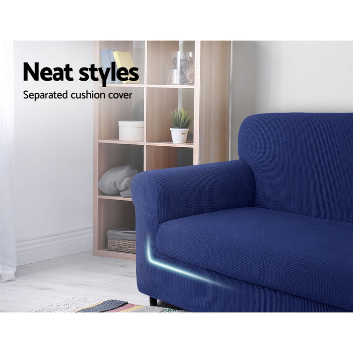 2-piece Sofa Cover Elastic Stretch Couch Covers Protector 3 Steater Navy