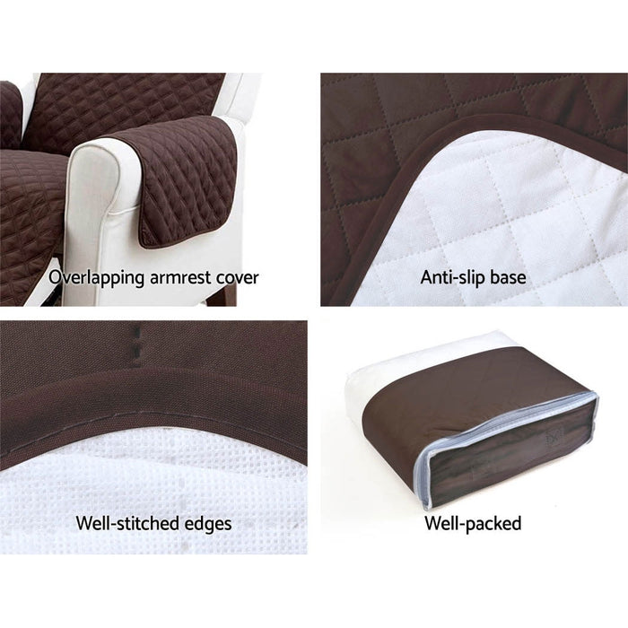 Sofa Cover Quilted Couch Covers Protector Slipcovers 1 Seater Coffee
