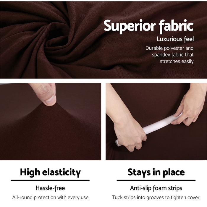 Sofa Cover Elastic Stretchable Couch Covers Coffee 1 Seater