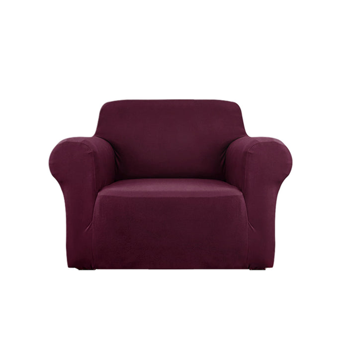 Sofa Cover Elastic Stretchable Couch Covers Burgundy 1 Seater