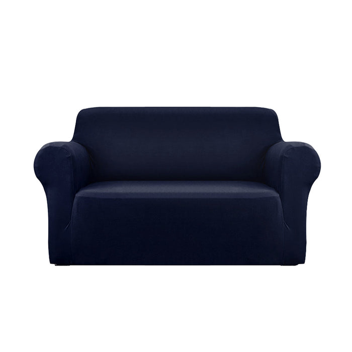 Sofa Cover Elastic Stretchable Couch Covers Navy 2 Seater