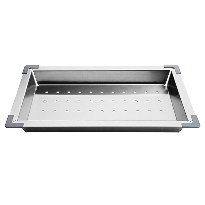 Stainless Steel Double Sink & Colander