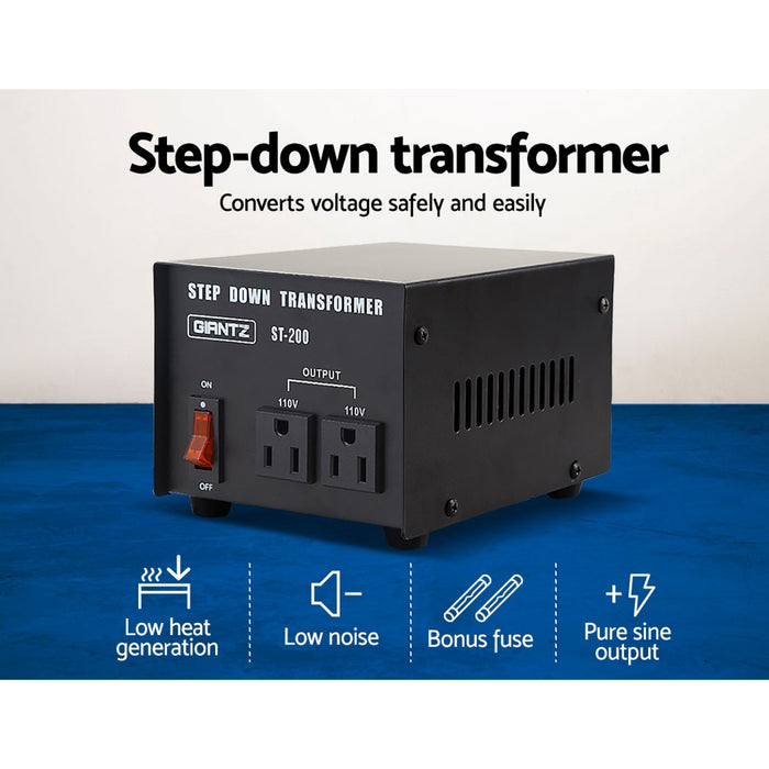 200 Watt Step Down Transformer